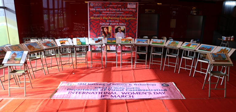 SRM Women's Day painting competition