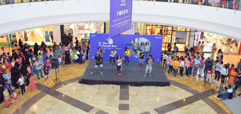 The Purple Run! Promotional activity
