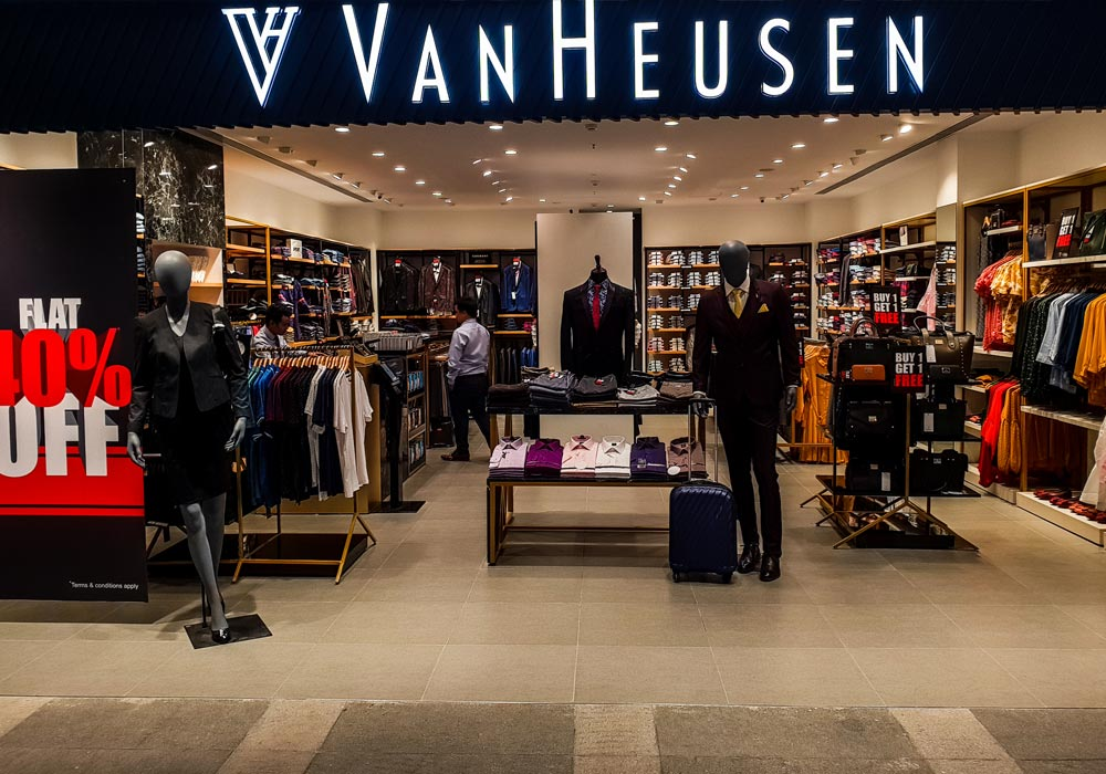 e269d615e0 Van Heusen. The company s brand portfolio includes product lines that range  from affordable and mass-market to luxurious